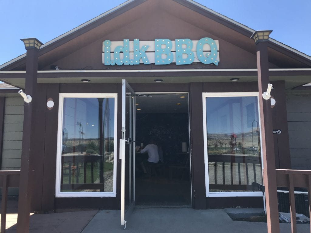 The front of IDK BBQ Restaurant